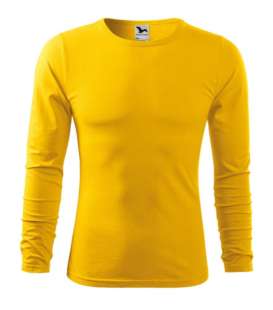 Produkt - Triko dlouhý rukáv Fit-T pánské žlutá S