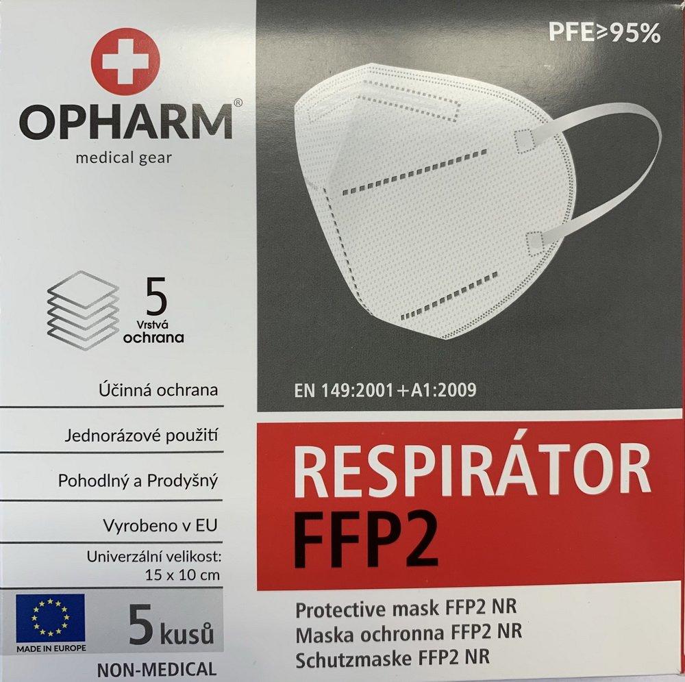 Produkt - Respirátor FFP2 skládaný 5 ks