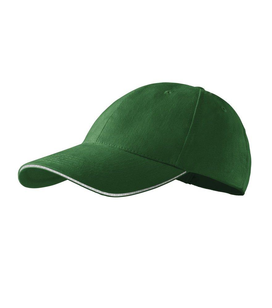 Produkt - Kšiltovka Sendwich 6P tmavě zelená